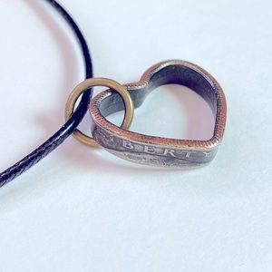 1978 Heart Shaped Quarter Coin Necklace